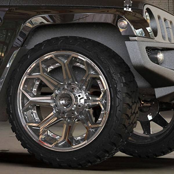 4Play 4P80 Brushed Gunmetal truck wheel detail