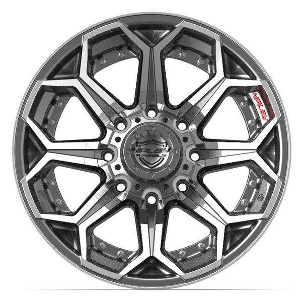 8-Lug 4Play 4P80R Wheels Machined Gunmetal Rims Fit GM-Chevy Trucks front