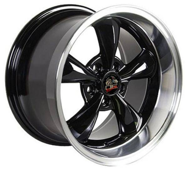 "17"" Ford Mustang   replica wheel 1994-2004 Black Machined rims 8181831"