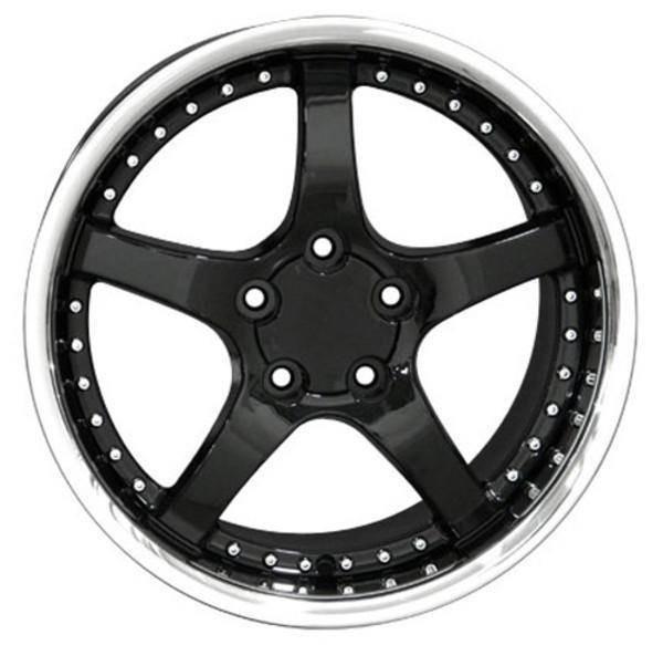 "18"" Pontiac Firebird  replica wheel 1993-2002 Black Stainless Lip rims 6820584"