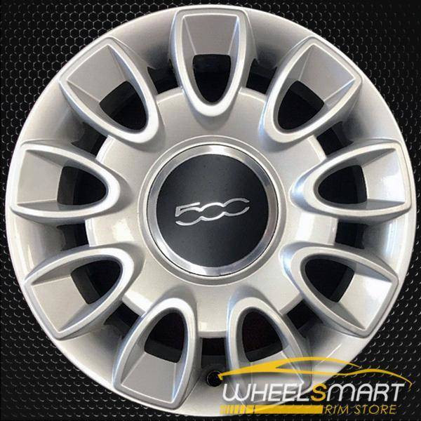 "15"" Fiat 500 OEM wheel 2012-2018 Silver alloy stock rim 68072556AA"