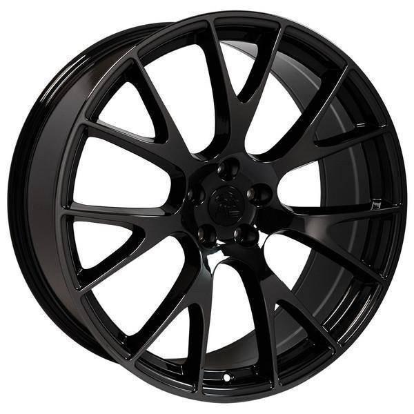 """22"""" Chrysler 300 replica wheel 2005-2018 Black Chrome rims 9507887"""