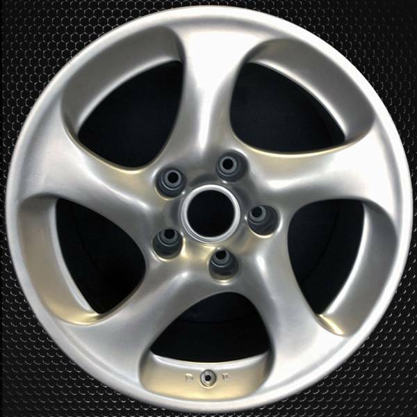 "18"" Porsche 911 OEM wheel 2001-2004 Silver alloy stock rim 99636214201, 99636214210"