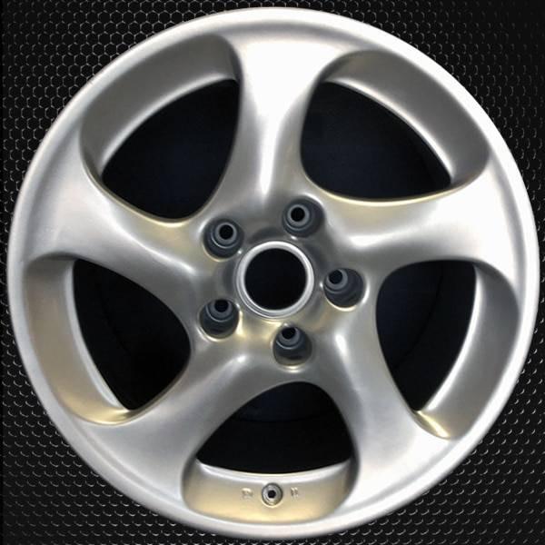 "18"" Porsche 911 OEM wheel 2001-2004 Silver alloy stock rim 99636213601"