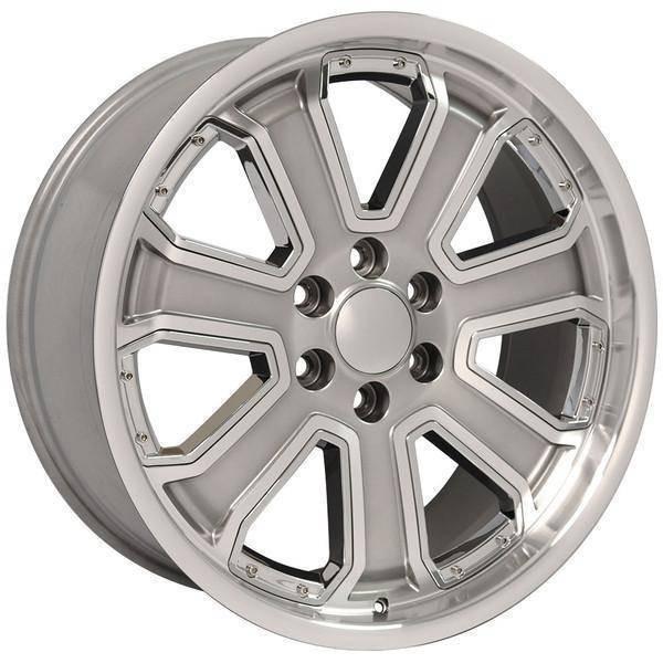 "22"" Chevy C2500 replica wheel 1988-2000 Hyper Black Machined rims 9506716"