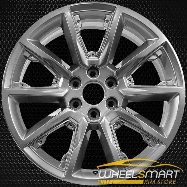 """22"""" Chevy OEM wheel NO INSERTS 2015-2019 Hypersilver alloy stock rim 22905550"""