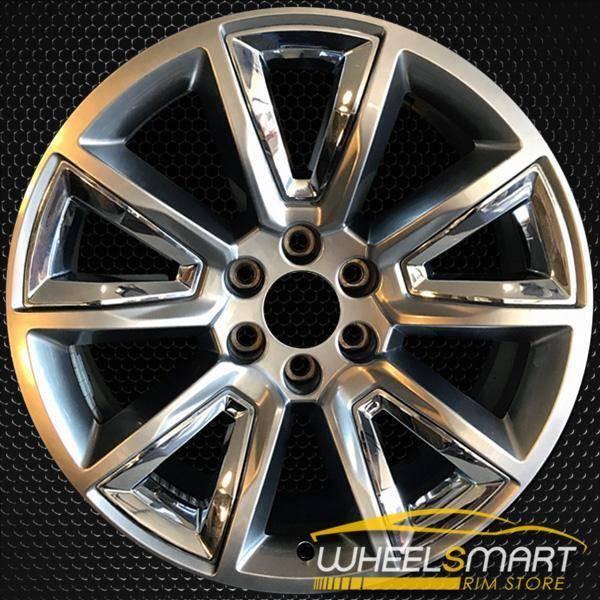 "22"" Chevy Tahoe OEM wheel 2015-2019 Hypersilver alloy stock rim 22905550"