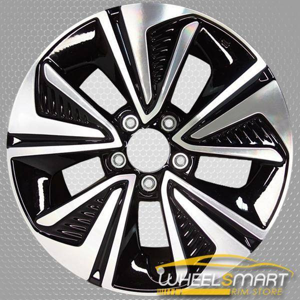 "17"" Honda Civic OEM wheel 2016-2019 Black alloy stock rim 42700TBAA92??,"