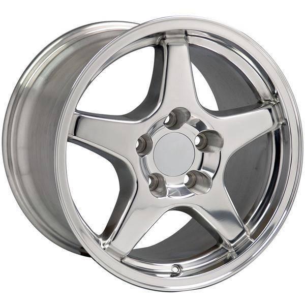 "17"" Pontiac Firebird replica wheel 1993-2002 Polished rims 4750778"