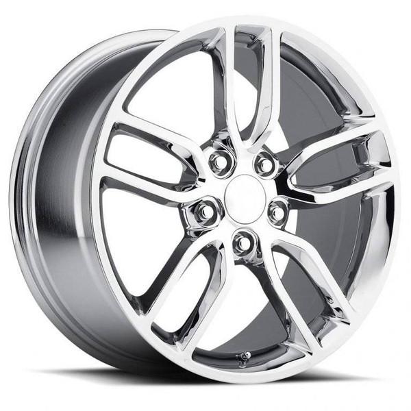 Chrome Chevy Corvette C7 Z51 Replica Wheels Rims FR26