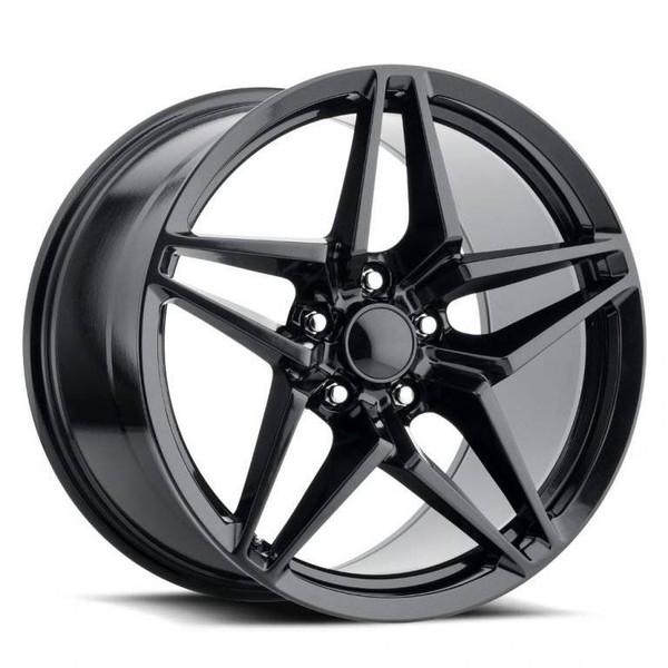 Satin Black Chevy Corvette C7 ZR1 Replica Wheels Rims FR29