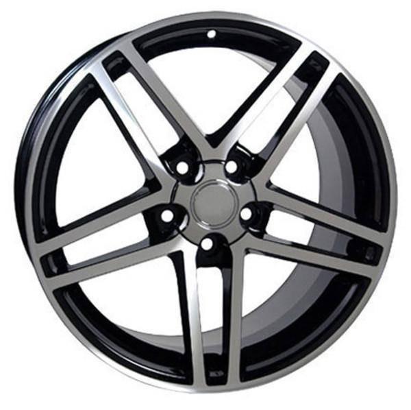 """17"""" Chevy Corvette replica wheel 1988-1996 Black Machined rims 5910238"""