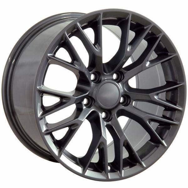 "19"" Chevy Corvette  replica wheel 2005-2013 Gunmetal rims 9498434"