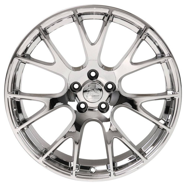 """22"""" Chrome Hellcat wheel replacement for Dodge Charger. Replica Rim 9507540"""
