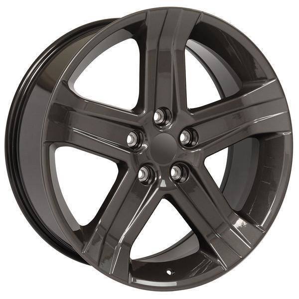 """22"""" Chrysler Aspen replica wheel 2007-2009 Gunmetal rims 9507105"""
