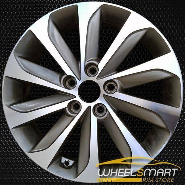 "17"" Hyundai Sonata oem wheel 2015-2017 Machined alloy stock rim ALY70877U35"