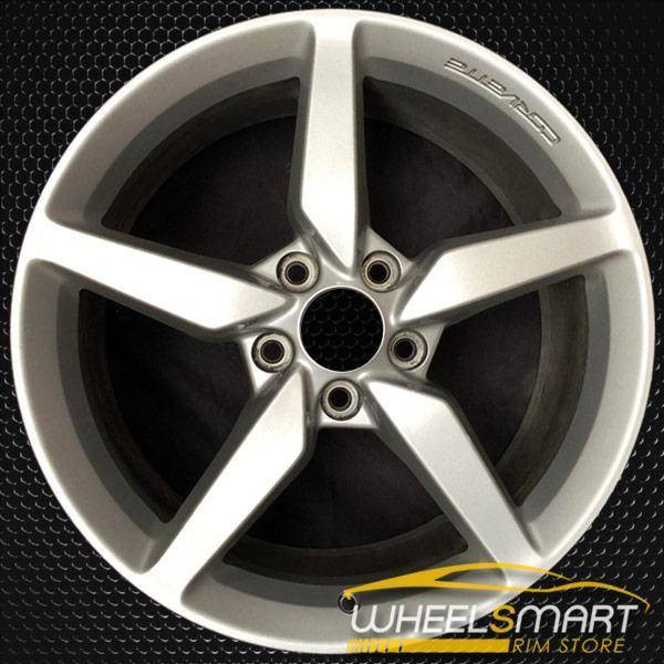 "18"" Chevy Corvette OEM wheel 2014-2015 Silver alloy stock rim 20986435, AAPA"