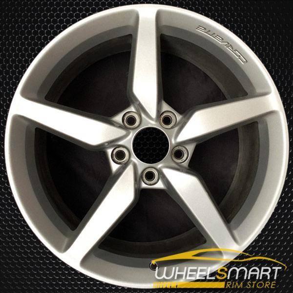 "19"" Chevy Corvette OEM wheel 2014-2015 Silver alloy stock rim 20986439, AAPH"