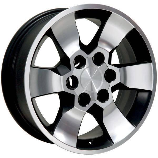 "17"" Toyota Tacoma replica wheel 2001-2018 Black Machined rims 9491326"