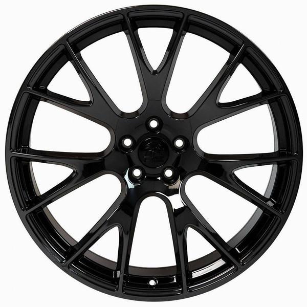 "20"" Gloss Black Hellcat wheel replacement for Dodge Challenger. Replica Rim 9510049"