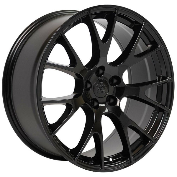 "20"" Gloss Black Hellcat replica wheel for Dodge Challenger. Replica Rim 9510049"