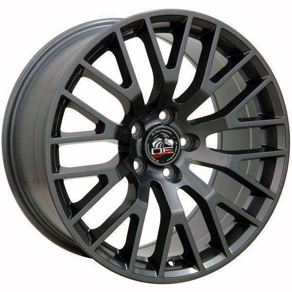 """18"""" Ford Mustang replica wheel 2005-2016 Gunmetal rims 9490929"""