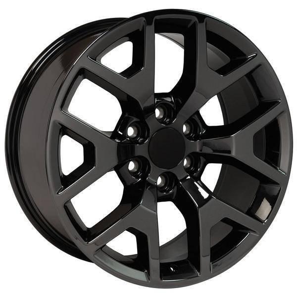 "20"" Chevy Avalanche replica wheel 2002-2013 Black Chrome rims 9507873"