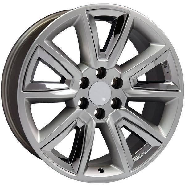 "20"" GMC Yukon replica wheel 1992-2018 Hyper Black Chrome Inserts rims 9505986"