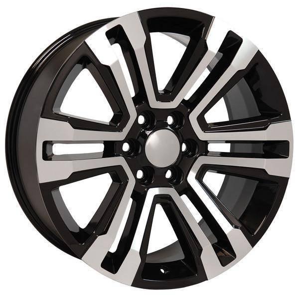 """22"""" Chevy Avalanche replica wheel 2002-2013 Black Machined rims 9507898"""