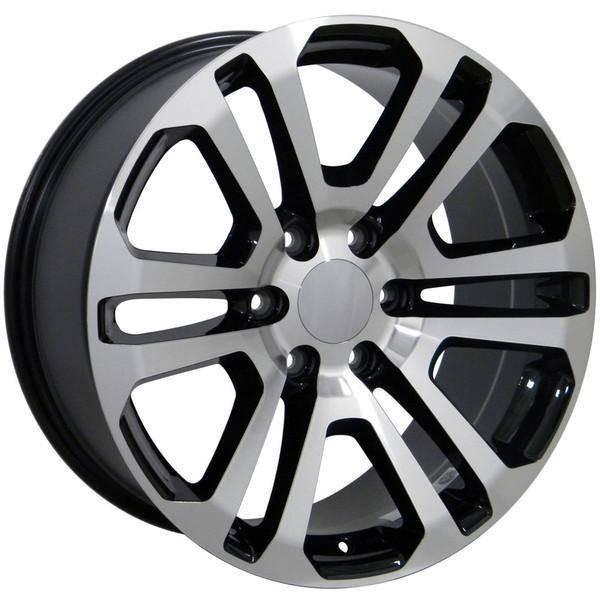 "20"" Chevy C2500 replica wheel 1988-2000 Black Machined rims 9489814"