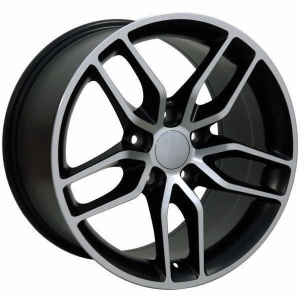 """17"""" Chevy Corvette replica wheel 1988-1996 Black Machined rims 9507535"""