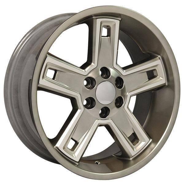 "22"" Chevy C2500 replica wheel 1988-2000 Hyper Black Machined rims 9506650"
