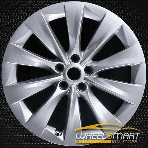 "20"" Tesla Model X oem wheel 2017 Silver alloy stock rim 97801"