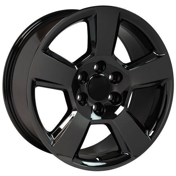 "20"" Chevy Avalanche replica wheel 2002-2013 Black Chrome rims 9507871"