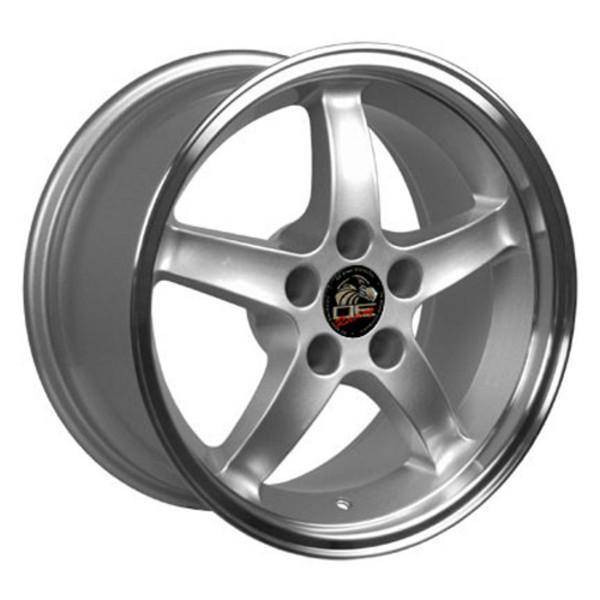"""17"""" Ford Mustang replica wheel 1994-2004 Silver Machined rims 8181902"""