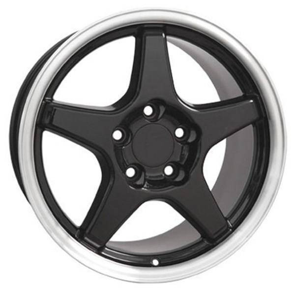 "17"" Pontiac Firebird replica wheel 1993-2002 Black Machined rims 5910191"