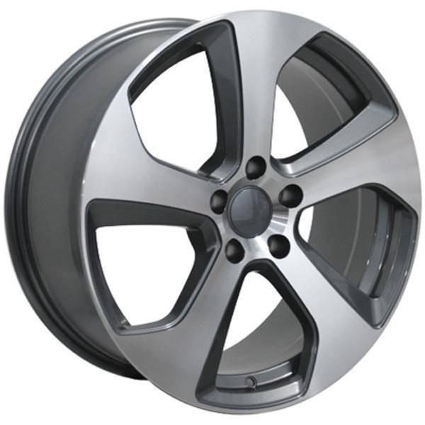 "18"" Volkswagen VW GTI replica wheel 2006-2018 Machined Gunmetal rims 9472097"