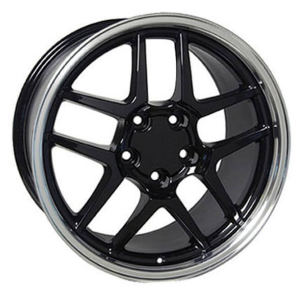 "17"" Pontiac Firebird replica wheel 1993-2002 Black Machined rims 4750597"