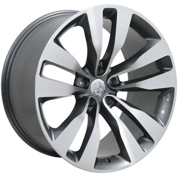 "20"" Dodge Challenger replica wheel 2009-2018 Machined Gunmetal rims 9472071"