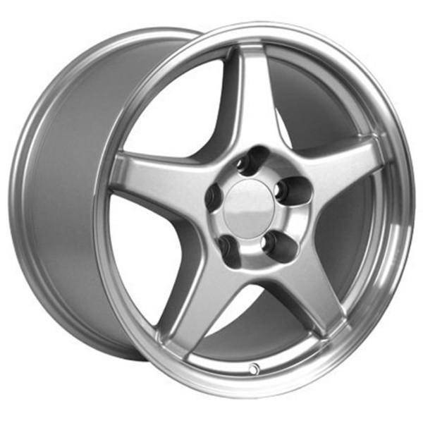 "17"" Pontiac Firebird replica wheel 1993-2002 Silver Machined rims 4750784"