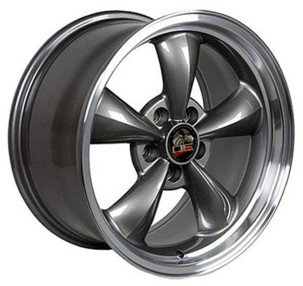 "17"" Ford Mustang replica wheel 1994-2004 Gunmetal Machined Lip rims 8181821"