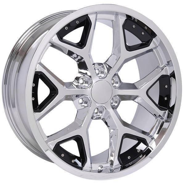 "22"" Chevy Blazer replica wheel 1992-1994 Chrome Black Inserts rims 9507479"