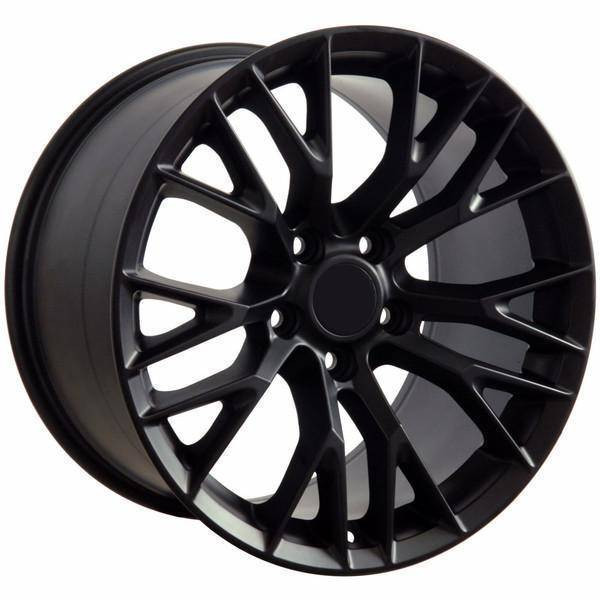 "19"" Chevy Corvette  replica wheel 2005-2013 Matte Black rims 9498432"