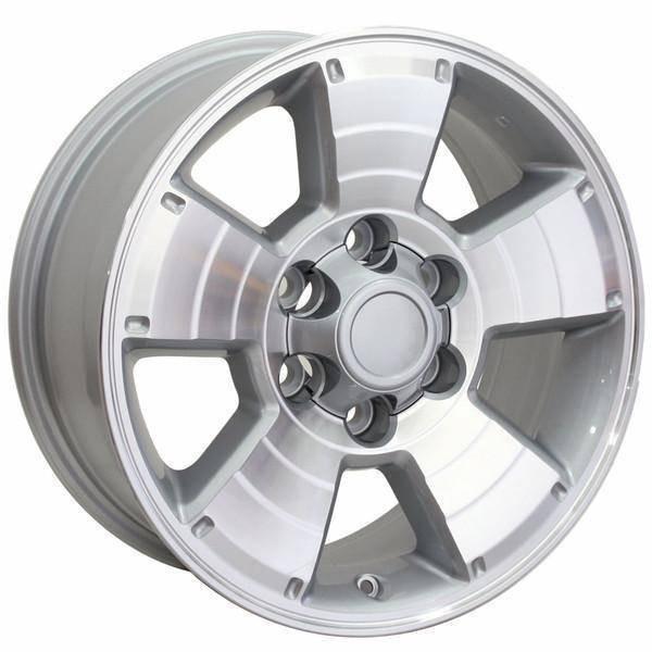 "17"" Toyota 4Runner replica wheel 1996-2018 Machined Silver rims 9472167"