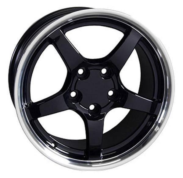 "17"" Pontiac Firebird replica wheel 1993-2002 Black Machined rims 5910209"