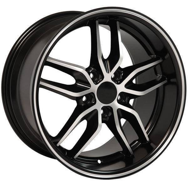 "18"" Chevy Camaro  replica wheel 1993-2002 Black Machined rims 9506931"