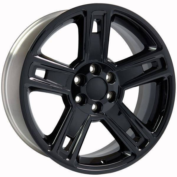 "22"" Chevy Avalanche replica wheel 2002-2013 Black rims 9507616"