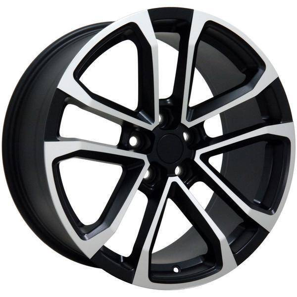 "20"" Chevy Camaro replica wheel 2010-2018 Black Machined rims 9491665"