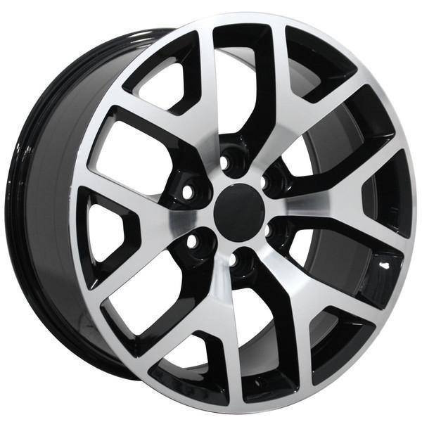 "22"" Chevy C2500 replica wheel 1988-2000 Black Machined rims 9482436"
