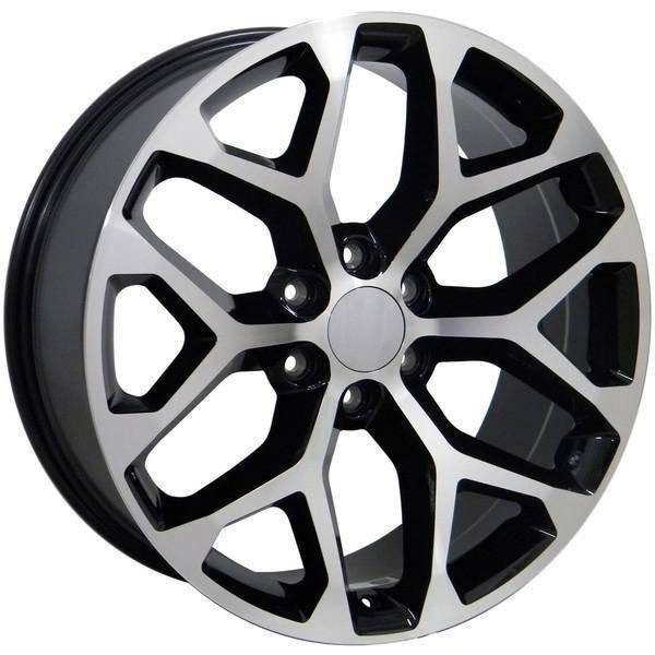 "20"" Chevy C2500 replica wheel 1988-2000 Black Machined rims 9489808"